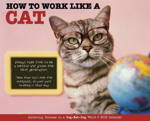 9781607553519: How to Work Like a Cat 2012 Calendar