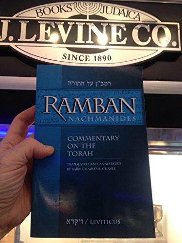 9781607630463: Ramban Nachmanides Leviticus/Vayira Commentary on the Torah