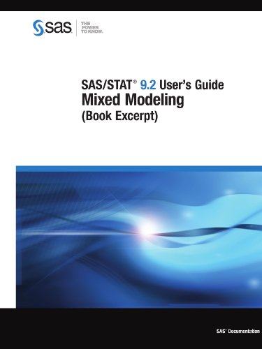 SAS/STAT 9.2 User's Guide: Mixed Modeling (Book Excerpt): Institute, SAS