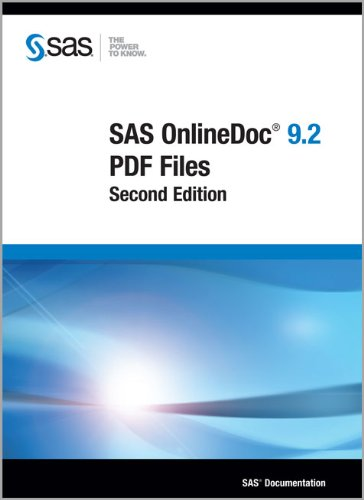 9781607643531: SAS OnlineDoc 9.2: PDF Files, Second Edition
