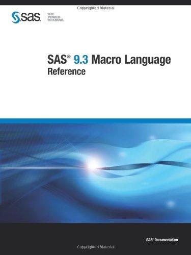 9781607648949: SAS 9.3 Macro Language:: Reference