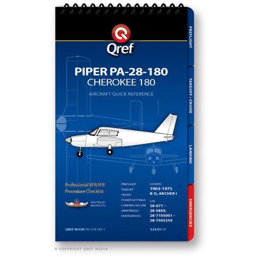9781607864387: Piper Cherokee 180 PA-28-180 Qref Book