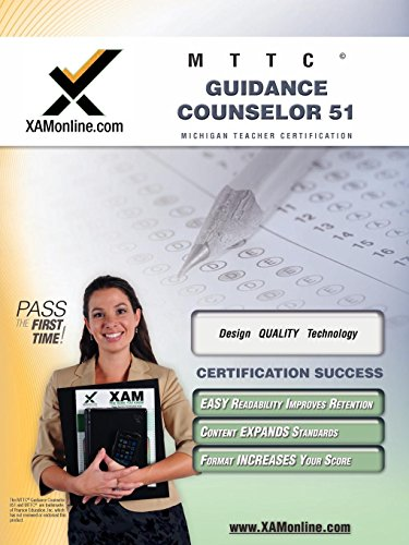 9781607870876: MTTC Guidance Counselor 51 Teacher Certification Test Prep Study Guide (XAM MTTC)
