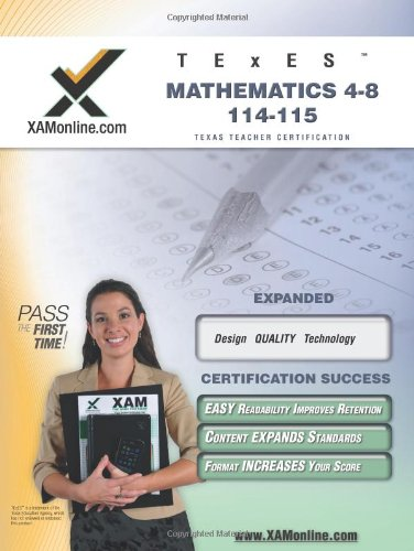 9781607871118: TExES Mathematics 4-8 115 Teacher Certification Test Prep Study Guide (XAM TEXES)