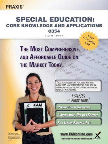 9781607873471: Praxis Special Education: Core Knowledge and Applications 0354 Teacher Certification Study Guide Test Prep
