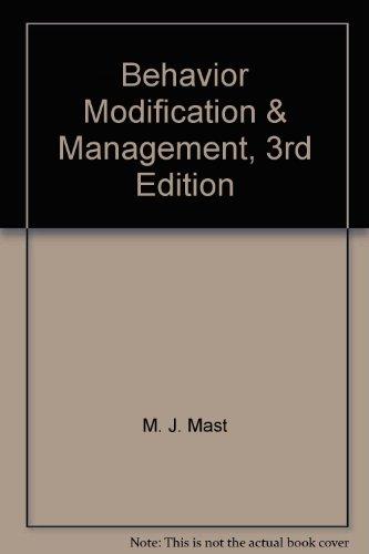 9781607972792: Behavior Modification & Management, 3rd Edition