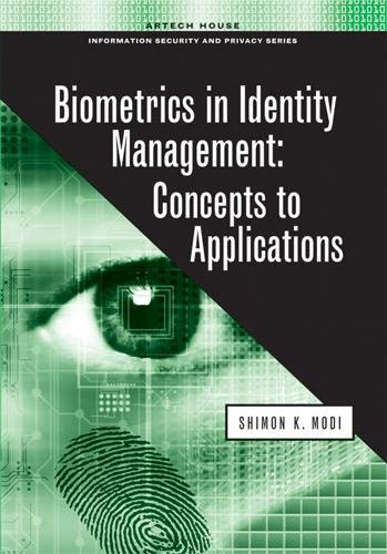 9781608070176: Biometrics in Identity Management: Concepts to Applications (Artech House Information Security and Privacy)