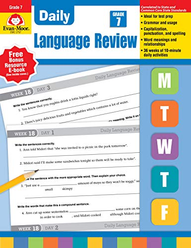 9781608236565: Daily Language Review, Grade 7