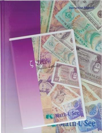 Zeta Decimals and Percents Instruction Manual Math-U-See