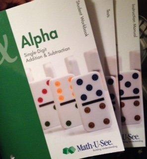 9781608260669: Math-U-See Alpha Single Digit Addition & Subtraction Instruction Book, Student Workbook, Test Booklet & DVD