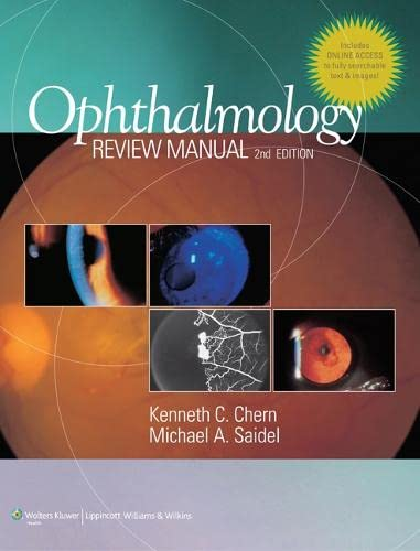 9781608310074: Ophthalmology Review Manual