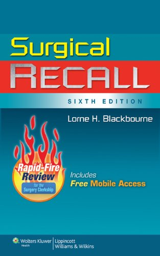 9781608314218: Surgical Recall, 6th Edition (Recall Series)