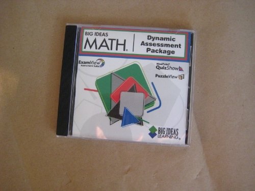 9781608400317: Big Ideas Math Dynamic Assessment Package CD for Blue, red and Green levels