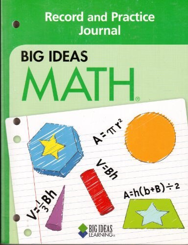 9781608400331: Big Ideas Math Record and Practice Journal