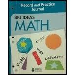 Big Ideas Math (Blue) Record and Practice: Ron Larson et