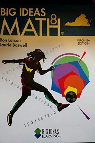 Big Ideas Math 8 (Virginia Edition, Blue): Laurie Boswell Ron