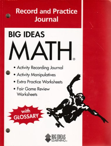9781608402335: Big Ideas MATH: Common Core Record and Practice Journal Red