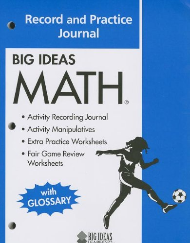 9781608402342: BIG IDEAS MATH: Common Core Record and Practice Journal Blue