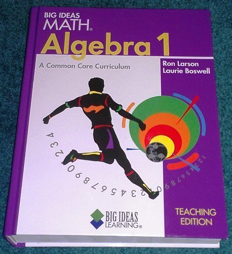 9781608403097: BIG IDEAS MATH Algebra 1: Student Edition 2013