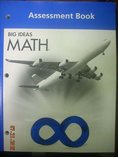 9781608404728: BIG IDEAS MATH: Assessment Book Blue/Course 3
