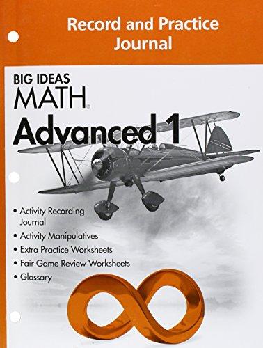9781608405282: Big Ideas MATH: Common Core Record & Practice Journal Advanced 1
