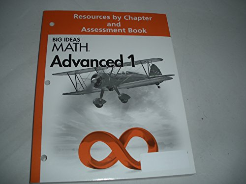 9781608405770: BIG IDEAS MATH: Resource by Chapter & Assessment Book Advanced 1
