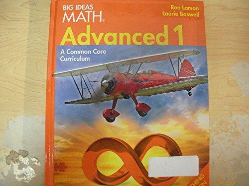 9781608405794: BIG IDEAS MATH: Teacher Edition Advanced 1 2014