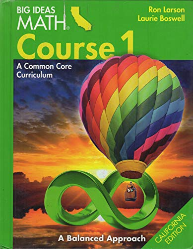 Big Ideas Math Course 1 A Common Core Curriculum