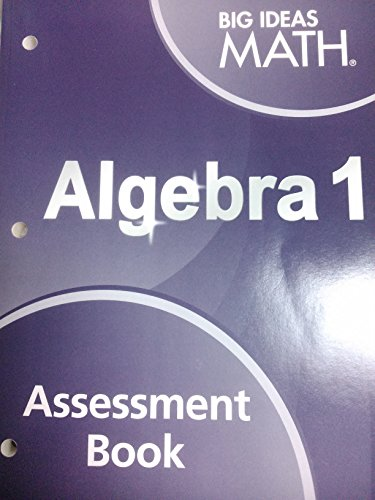 9781608408559: Big Ideas Math Algebra 1: Assessment Book