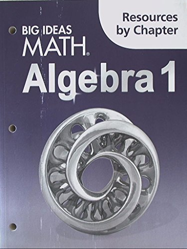 9781608408580: Big Ideas Math Algebra 1: Resources by Chapter
