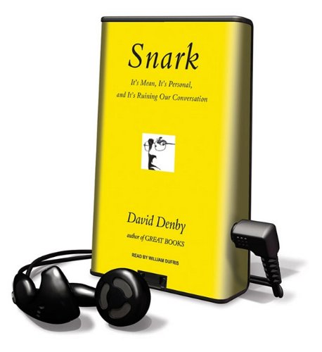 Snark (Playaway Adult Nonfiction) (160847870X) by David Denby