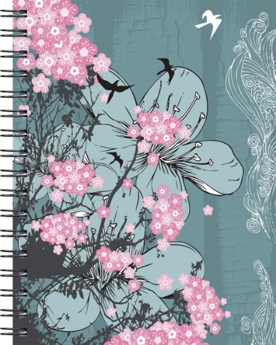 9781608633296: Wire-o Journal - Flower Blossoms - Medium - Lined both Sides