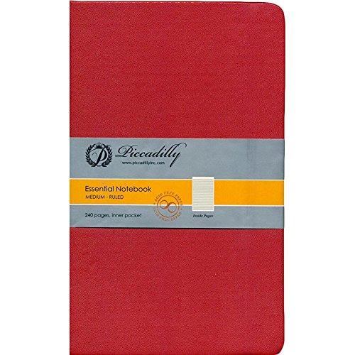 9781608637911: Red Essential Notebook-Medium-Ruled-Hardcover