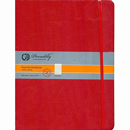 9781608637928: Red Essential Notebook-Large-Ruled-Hardcover