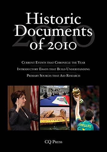 Historic Documents of 2010: CQ Press