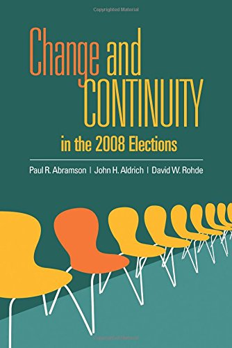 9781608717989: Change and Continuity in the 2008 and 2010 Elections