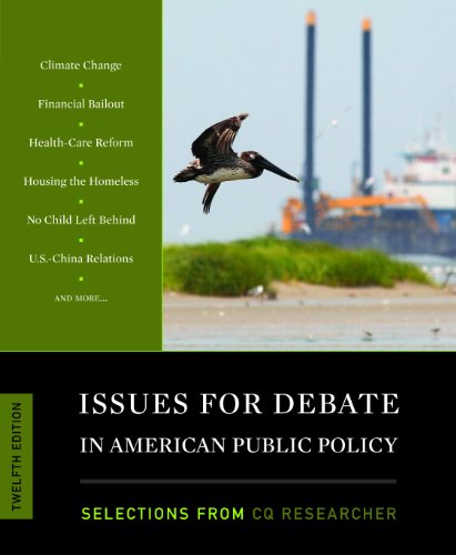 9781608718290: Issues for Debate in American Public Policy: Selections from CQ Researcher, 12th Edition