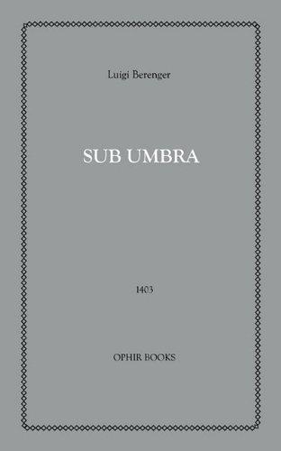9781608729739: Sub-Umbra