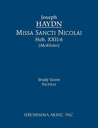 Missa Sancti Nicolai, Hob.XXII:6: Study score (1608740145) by Haydn, Joseph