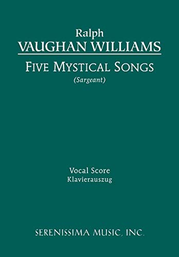 9781608740482: Five Mystical Songs: Vocal score