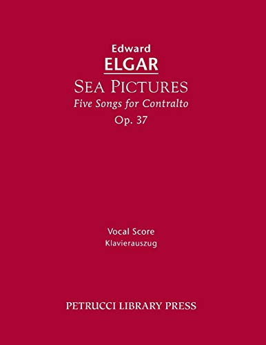 9781608741144: Sea Pictures, Op.37: Vocal score