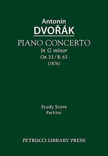 9781608741762: Piano Concerto, Op.33 / B.63: Study Score