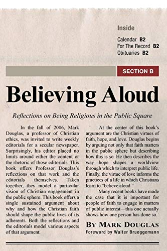 9781608992478: Believing Aloud: Reflections on Being Religious in the Public Square