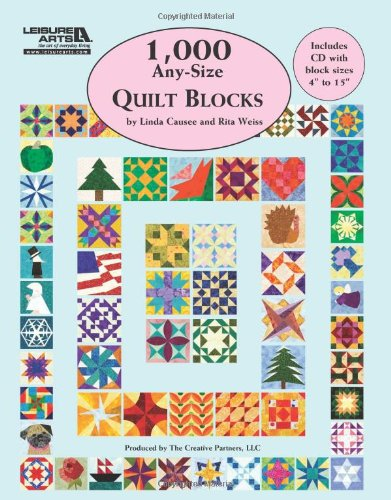 9781609003326: 1,000 Any-Size Quilt Blocks (Leisure Arts #5593)