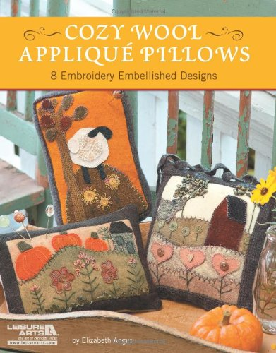 9781609004125: Cozy Wool Applique Pillows: 8 Embroidery Embellished Designs