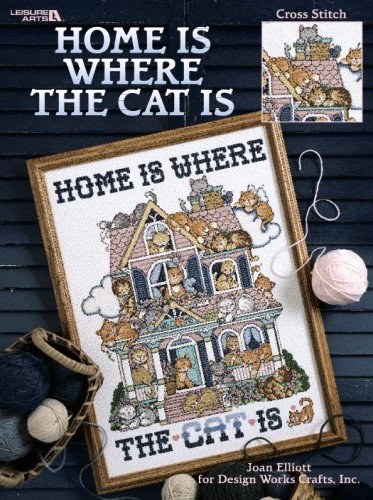 9781609009434: Home Is Where the Cat Is: Cross Stitch