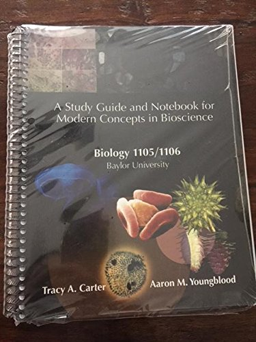 9781609040178: A Study Guide and Notebook for Modern Concepts in Bioscience