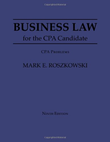 9781609040611: Business Law for the Cpa Candidate: Cpa Problems