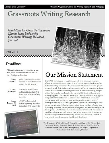 9781609041632: Grassroots Writing Research Journal - Issue 3.1