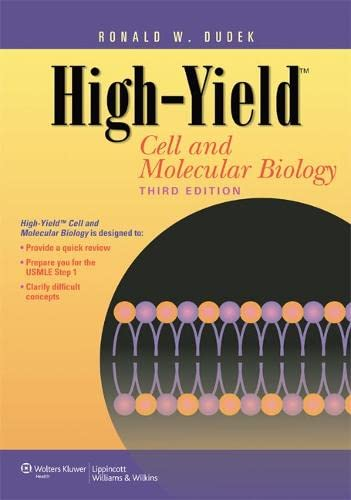 9781609135737: High-Yield™ Cell and Molecular Biology (High-Yield Series)